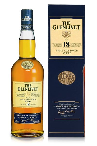 Whisky kado: The Glenlivet 18 jaar oud 70 cl