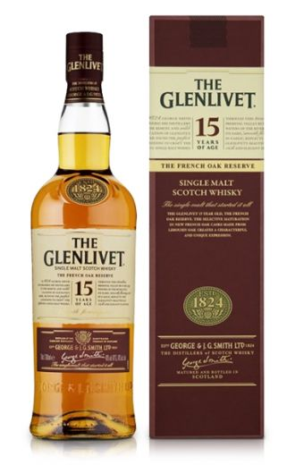 Whisky kado: The Glenlivet 15 jaar oud 100 cl